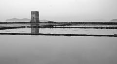 Saline (ingirogiro) Tags: bw italy tower sepia landscape minolta gray sicily 5d saline sicilia trapani