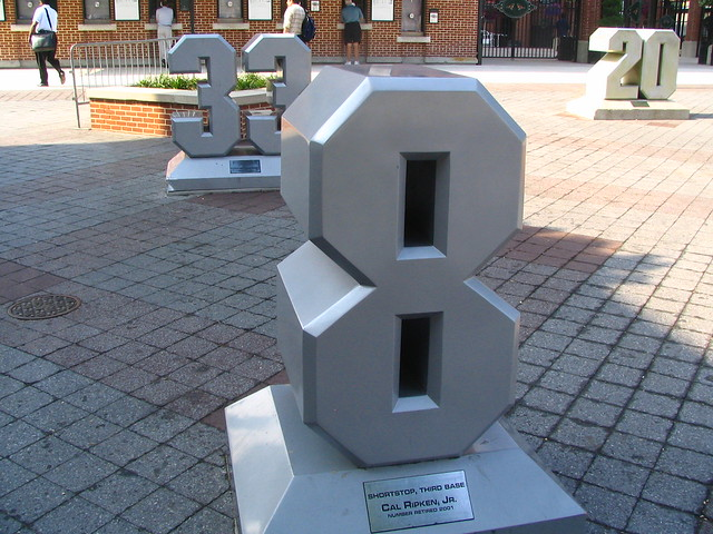 Retired Numbers at Camden Yards