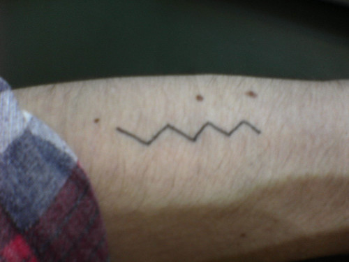 Lightning bolt tattoo Or a smiley