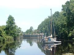 9 juillet 2004 Dismal Swamp Canal 8 (coochicanada) Tags: intracoastal sailingboat dismalswamp coochi