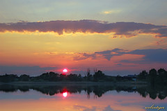 Until Tomorrow (Dietrich Bojko Photographie) Tags: sunset sky lake reflection tag3 taggedout clouds d50 germany landscape deutschland spring colorful tag2 tag1 webinteger may nikond50 55mm brandenburg circularpolarizer seefeld payitforward nikkor1855mm 1500v60f specland haussee cokinp121m cokinp164