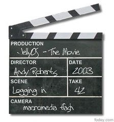 JellyOS the movie - clapperboard