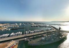Battleship Averof (YiorgosT) Tags: kite beach geotagged photography boat europe ship aerial greece grecia atenas battleship kap griechenland grce palio velos atene faliro averof geolat37933231 geolong23684959