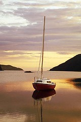 Sailboat (Clyde Barrett) Tags: sailboat sunrise newfoundland dawn boat nl nfld conceptionbay 25faves clydebarrett