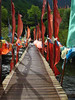 Tibetan culture (Photography lesson in Shanghai) Tags: china bridge landscape flag