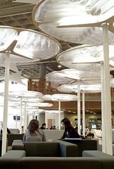 Lighting Saltire Centre Glasgow Caledonian University - by jisc_infonet