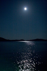 mediteranean moon (ilkerc) Tags: longexposure sea moon 20d night contrast digital eos graphic ay minimalism bodrum akdeniz mediteranean ilker mehtap ilkerc canikligil ilkercanikligil