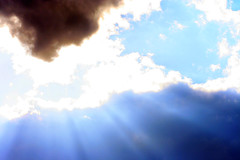 Shine On (jhary) Tags: blue sky sun nature clouds georgia landscape outside shine may 2006 beams macon beforedinner threedaysbefore
