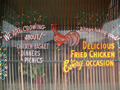 We are crowing about! (jschumacher) Tags: kansas wilson windowpainting wilsonkansas czechcapitalofkansas