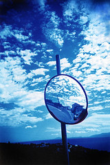 Mirror Blue (Baby Skinz) Tags: blue sky cloud clouds mirror lomo lca xpro crossprocessed greece 123sky 123ac