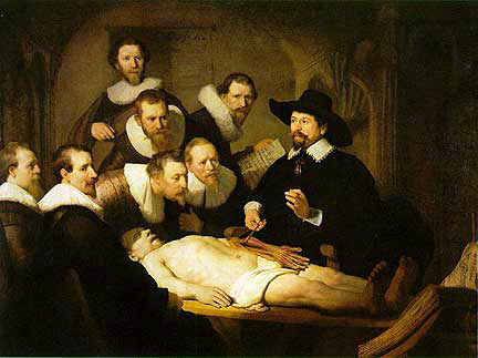 """Doctor Tulip's Anatomy Class"" by Rembrandt 1632"