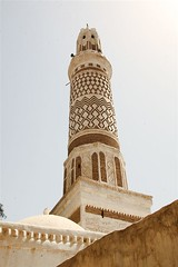 Minaret of a mosque in Sanaa - Yemen (Eric Lafforgue) Tags: republic arabic arabia mosquee yemen arabian sanaa ramadan mosk yemeni yaman arabie yemenia jemen lafforgue arabiafelix  arabieheureuse  arabianpeninsula ericlafforgue iemen lafforguemaccom mytripsmypics imen imen yemni    jemenas    wwwericlafforguecom  alyaman ericlafforguecomericlafforgue contactlafforguemaccom yemenpicture yemenpictures