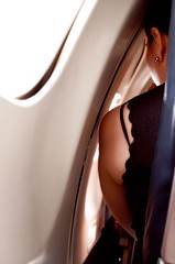 Leaving on a jet plane (sinkingpoe) Tags: woman love ex window plane airplane leaving girlfriend lace candid seat bra earring ear strap wife depressed lonely goodbye melancholy shoulder heartbreak affair ots windowseat breakup sayinggoodbye adios missingyou jackel leavingonajetplane