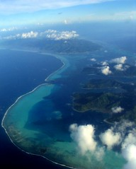 Raiatea and Tahaa from above