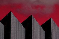 Herbert Art Gallery (Mark Rutter) Tags: uk red england abstract black art museum architecture grey gallery all sharp strong top10 coventry herbert f5 oneyear bold midlands i20 cotcmostfavorited i120 explored markrutter