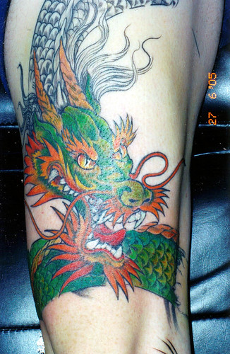Colorful dragon tattoo .. nice picture