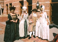 Some of My Costumes In Action (Diogioscuro) Tags: costumes party dress masks reception ucla venetian 18thcentury dws diogioscuro