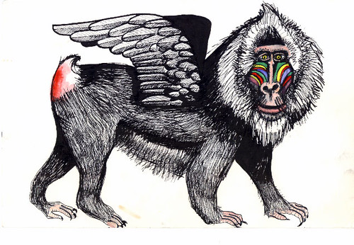 winged mandrill