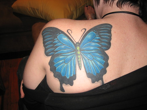 Beautiful Design : Butterfly tattoo picture