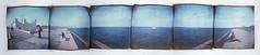 Domingo al sol (Cea tecea) Tags: barcelona sea panorama topf25 polaroid holga lift topv1111 88 holgaroid emulsion emulsionlift displayedinstant100best formerlyinstant100best