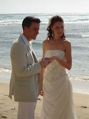 With this ring (42Jules) Tags: wedding beach hawaii northshore kauai kee weddingceremony keebeach