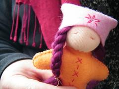 26 finished girl front (Soozs) Tags: wool toys doll dolls handmade felt tutorial steiner felttoys