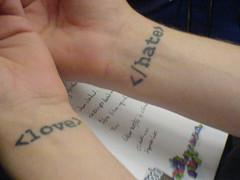 Code tattoos