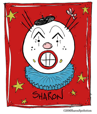 sharon-clown-face