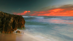 Intensity (sengsta) Tags: ocean longexposure sunset beach landscape rocks surf perth northbeach westernaustralia mettamspool hammersleypool