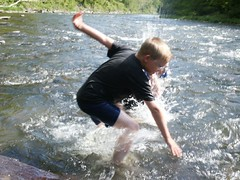 PICT4440 (eric_beyeler) Tags: friends motion water kids river action candid 2006 pa pennsylvaniagrandcanyon ericbeyeler