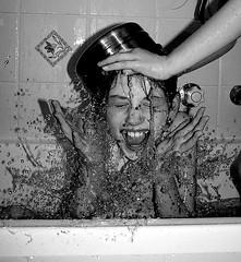Splash! (Earlette) Tags: bw water june kids children fun blackwhite drops movement bath play kodak smiles 123 2006 ash splash childrenatplay stopmotion greatshots sentimentality peopleandwater 123kids 123bw kidsandfun bathsplash tccomp069 tbgc8
