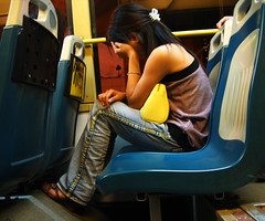 Its been a Hard Day (Life in AsiaNZ) Tags: china city sleeping woman bus canon asian asia south chinese powershot southern   nanning  guangxi       hardday   1000v40f  3000v120f  world100f lifeinnanning  flickrgiants