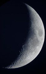 Moon From sydney - July01 06 (OLDSKOOLDAVE) Tags: moon sony sydney crescent craters telescope lunar moonshot halfmoon dscw5 900mm