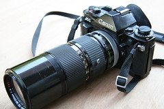 Canon A1 with FD 80-200mm f4 zoom