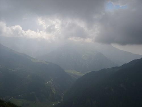 Blick vom Timmelsjoch nach St. Leonhardt