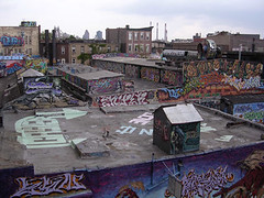 NYC #67 (digital_freak) Tags: nyc streetart newyork abandoned rooftop skyline graffiti colorful queens decrepit 5pointz dilapidated 5ptz top20nyc digitalfreak