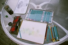 The Drawing (Random Synapses) Tags: vacation flower art film garden island drawing multicoloured 2006 pender