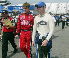 Carl and Jimmie @ New Hampshire '06 - Final Practice (*~*Celestial*~*) Tags: new industrial garage johnson nh hampshire tools international final carl area session practice 300 edwards lenox speedway jimmie carledwards loudon jimmiejohnson