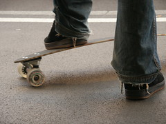 Skater Zurich (claudia stucki) Tags: shoes zurich jeans skateboard zrich mainstation slalomboard