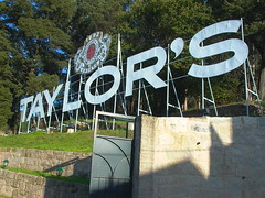 Sign for Taylor's in Porto