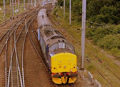 Through the Cantenary (Chris Baines) Tags: drs 37405 departing norwich great yarmouth