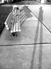 bench shadows (pamelakliment) Tags: bench shadows selfportraits kliment pamelakliment