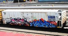 faze - nas - hamer - girafa (timetomakethepasta) Tags: up train graffiti all pacific ant union nation express freight reefer nme naz giraffa hamer chilled tko armn moniker faze