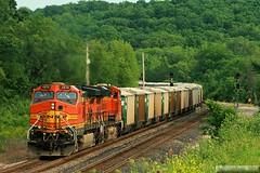 Kansas Corn Mash (Jeff Carlson_82) Tags: railroad train ks railway kansas ge shawnee railfan bnsf zarah burlingtonnorthernsantafe cornmash c449w transcon gedydht9
