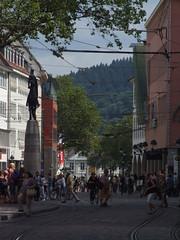 Kaiser-Joseph-Straße (Klemens Maier) Tags: freiburg kaiserjosefstrase bertoldsbrunnen breisgau baden badenwürttemberg deutschland innenstadt altstadt schwarzwald schienen gleise vag