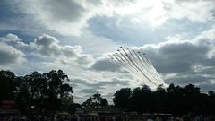 Armed Forces Day - Red Arrows flypast II (bobsmithgl100) Tags: hawk surrey guildford redarrows stokepark armedforcesday