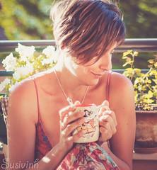 Easy mornings make me happy - #100HAPPYDAYS (susivinh) Tags: mañana coffee café smiling happy thinking pensive feliz pensativa sonriente easymorning 100happydays