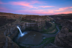 River Carvings - Palouse Falls, Washington (Jim Patterson Photography) Tags: travel pink sunset sky nature river landscape flow outdoors washington canyon eastern palousefalls jimpatterson boomboomboom jimpattersonphotography jimpattersonphotographycom seatosummitworkshops seatosummitworkshopscom