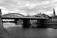 Bridge In Cambridge Ontario (Braden Bygrave) Tags: road travel bridge cambridge blackandwhite white canada black church nature water clouds river landscape see cool nikon view walk awesome like grand fave explore grandriver galt nikonphotography d7100 nikond7100 18140mm