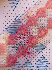 Bobbin Lace (guzzisue) Tags: lace bobbinlace bobbins lacemaking bobbinlacemaking handmadelace